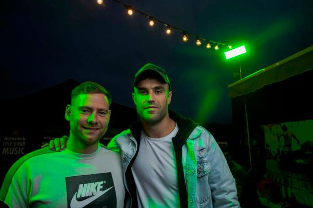 Rugby player Conor Murray pictured at the Heineken Live Your Music stage, Electric Picnic
