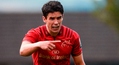 Joey Carbery of Munster during the Guinness PRO14 Round 1 match between Munster and Toyota Cheetahs at Thomond Park in Limerick.