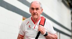 'Many will expect Mickey Harte to come up with something to derail this runaway locomotive'. Photo: Stephen McCarthy/Sportsfile