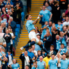 Manchester City's Kyle Walker celebrates scoring their winning goal against Newcastle. Photo: Reuters