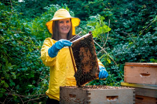 Research: DCU PhD student Saorla Kavanagh, who led the study, with some heather honey