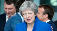 British Prime Minister Theresa May. Photo: REUTERS