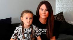 Outraged: Valerie Cassidy with daughter Sienna, who suffers from scoliosis. Photo: Damien Eagers