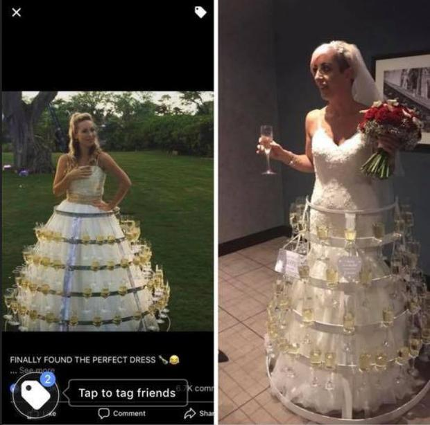Iliza Shlesinger Wedding.This Bride Wore A Wedding Dress Made Out Of Prosecco And Has Just