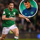 Harry Arter and (inset) Roy Keane