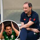 Martin O'Neill and Roy Keane and (inset) Harry Arter