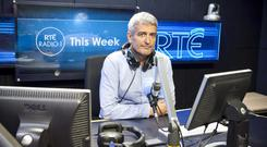 David McCullagh in the This Week studio at RTE Radio 1. PIC: RTE