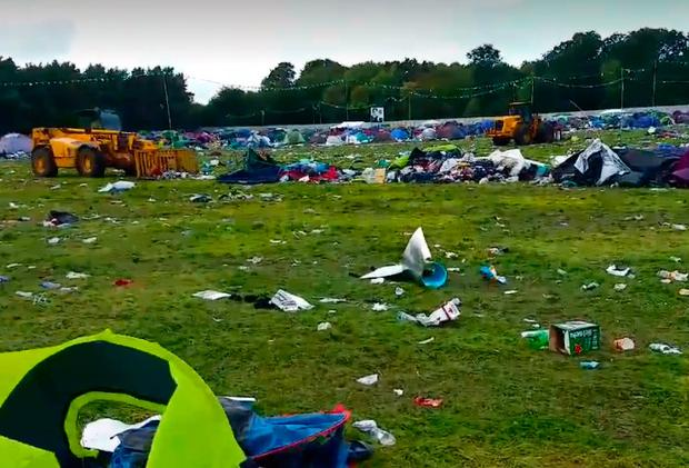 Its A Throwaway Culture Aftermath Of Electric Picnic Site Was As