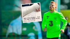 James McClean will undergo surgery on his arm today