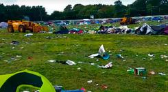 The clean up after Electric Picnic