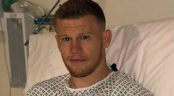 James McClean's Instagram posts tell the story of his day with a thumbs-up post-surgery.