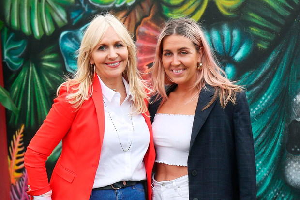 Miriam O'Callaghan and Georgia McGurk at the VIP Casa Bacardi area at Electric Picnic. Picture: Robbie Reynolds