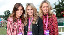 Doireann Garrihy, Ailbhe Garihy and Aoibhin Garrihy at Three's Made by Music base at Electric Picnic. Picture: Brian McEvoy