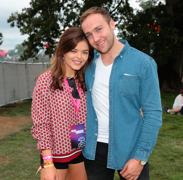 Doireann Garrihy and boyfriend Joe Melody at Three's Made by Music base at Electric Picnic. Picture: Brian McEvoy