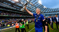 26 May 2018; Devin Toner of Leinster following their victory in the Guinness PRO14 Final between Leinster and Scarlets at the Aviva Stadium in Dublin. Photo by Ramsey Cardy/Sportsfile