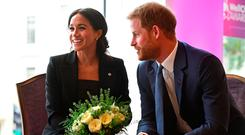 Britain's Prince Harry and Meghan, the Duke and Duchess of Sussex, attend the annual WellChild Awards ceremony the Royal Lancaster Hotel in London, Britain September 4, 2018. Victoria Jones/Pool via REUTERS