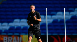 5 September 2018; Wales manager Ryan Giggs during a training session at Cardiff City Stadium in Cardiff, Wales. Photo by Stephen McCarthy/Sportsfile