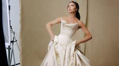 Victoria Beckham appeared in her wedding dress from 1999 nuptials in Ireland in a video for British Vogue   Picture: Still from YouTube