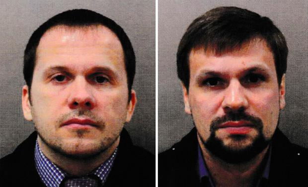 Handout photo issued by the Metropolitan Police of Alexander Petrov (left) and Ruslan Boshirov. Metropolitan Police/PA Wire