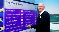 Europe Captain Thomas Bjorn during the Team Europe Ryder Cup Wildcard announcement at Sky Central, London.