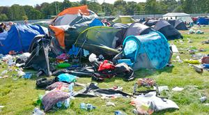 Clean-up: The aftermath at the Electric Picnic site on the Stradbally estate