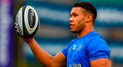 True blue: If you stand still you get left behind, says Leinster's Adam Byrne. Photo: Sportsfile