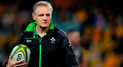 The IRFU confirmed Joe Schmidt's side will play Italy, England and Wales twice before next year's World Cup and the long season could conclude Down Under. Photo: Sportsfile