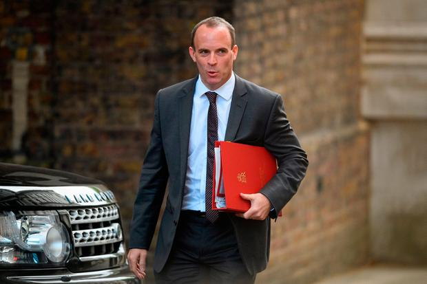 Claim: British Brexit Secretary Dominic Raab said some in the EU were using the Irish Border issue to pressure the UK. Photo: Getty Images