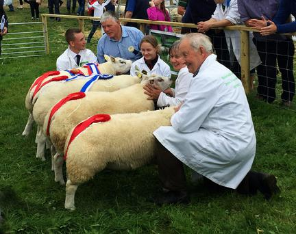 The Browne family winning four categories plus Supreme Champion and Reserve awards at the Tullamore Show in 2016.