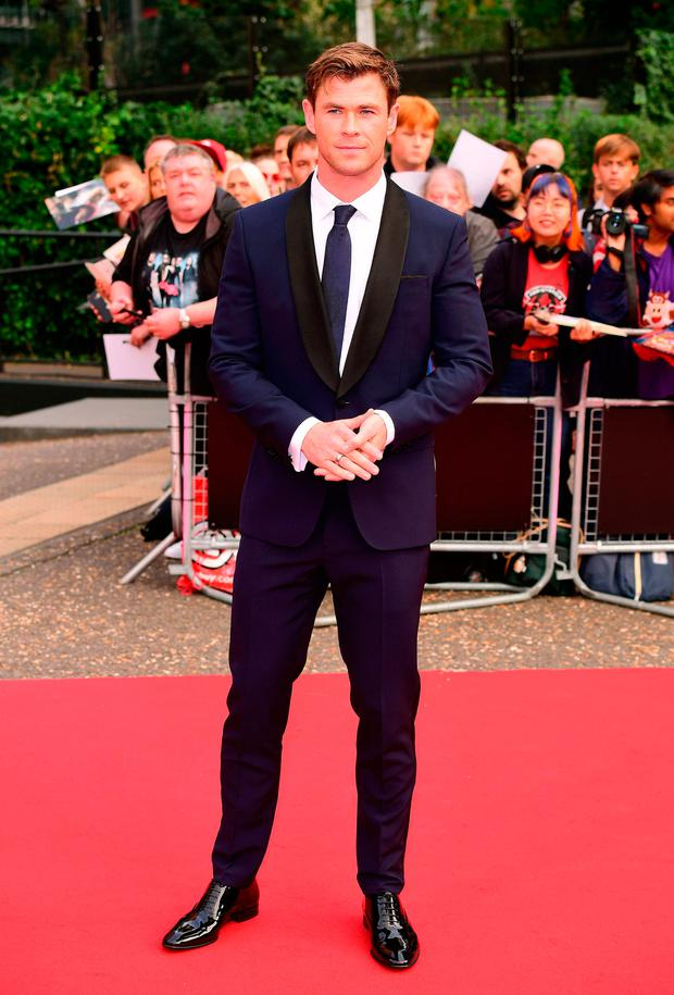 38f6e6903d Chris Hemsworth arriving for the GQ Men of the Year Awards 2018 in  Association with Hugo Boss held at The Tate Modern in London