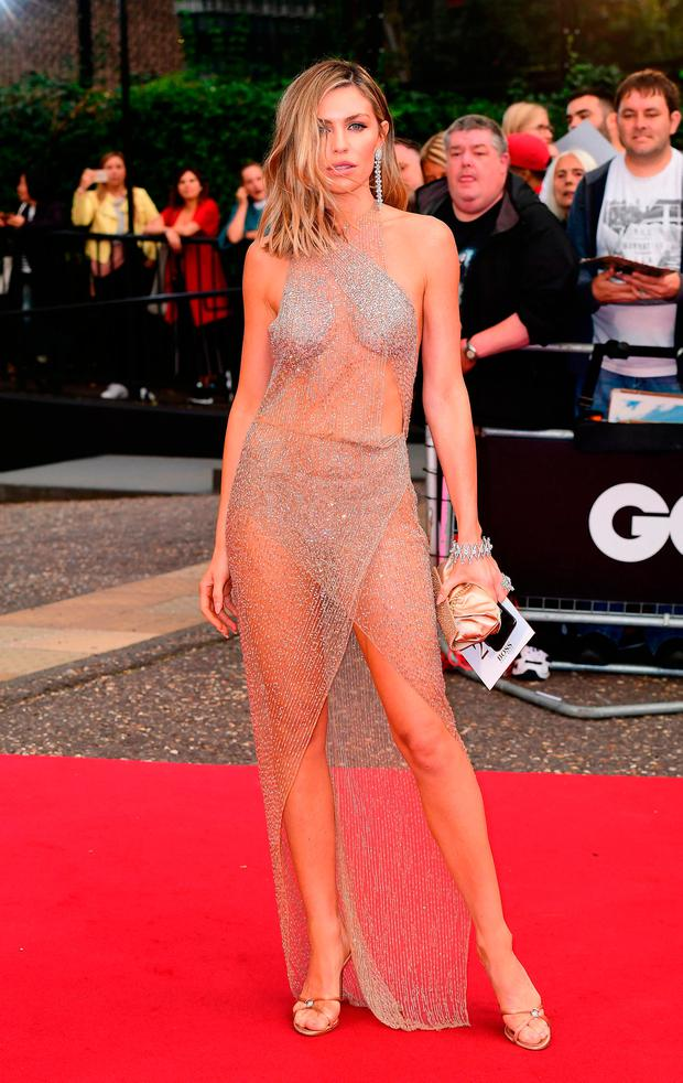 Abbey Clancy arriving for the GQ Men of the Year Awards 2018 in Association with Hugo Boss held at The Tate Modern in London