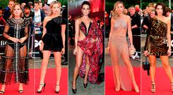 (L to R) Tanya Burr, Laura Whitmore, Kate Beckinsale, Abbey Clancy and Dua Lipa at the GQ Man of the Year Awards