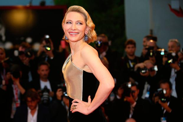 Actress Cate Blanchett poses for photographers upon arrival at the premiere of the film 'Suspiria' at the 75th edition of the Venice Film Festival in Venice, Italy, Saturday, Sept. 1, 2018. (Photo by Joel C Ryan/Invision/AP)