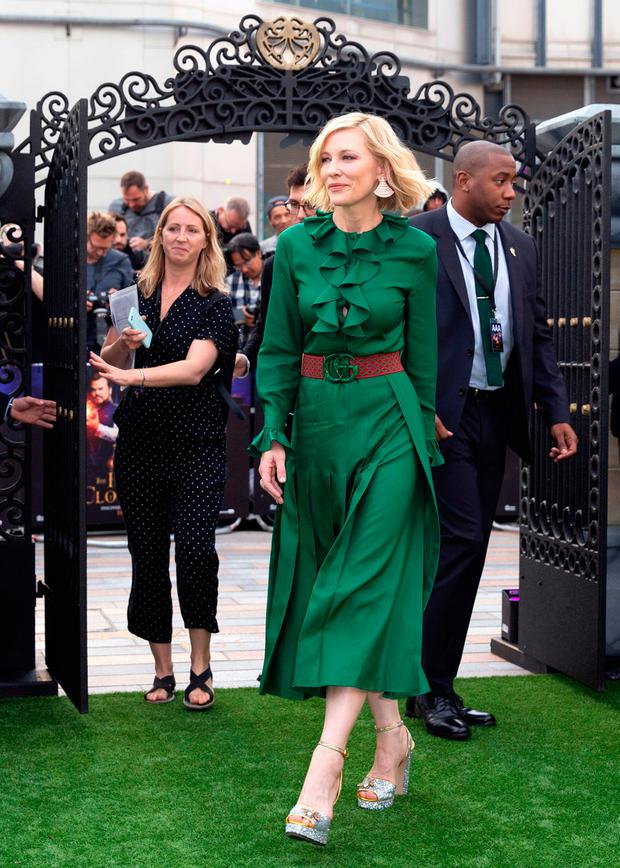 Cate Blanchett arriving at the world premiere of The House with a Clock in Its Walls at Westfield in White City, London