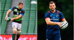 Jordi Murphy (left) and Tadhg Beirne (right).