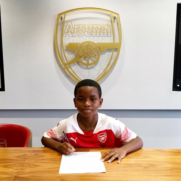 New Arsenal signing Jayden Adetiba.
