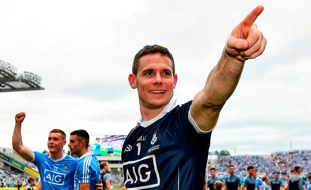 Stephen Cluxton of Dublin following the GAA Football All-Ireland Senior Championship Final match between Dublin and Tyrone at Croke Park in Dublin. Photo by Seb Daly/Sportsfile