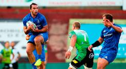 James Lowe in action in a pre-season friendly against Montauban. Photo: Manuel Blondeau/Sportsfile