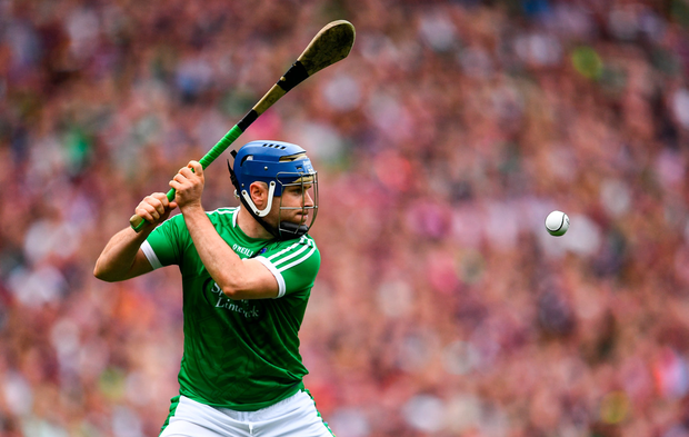 19 August 2018; Richie McCarthy of Limerick during the GAA Hurling All-Ireland Senior Championship Final match between Galway and Limerick at Croke Park in Dublin. Photo by Ramsey Cardy/Sportsfile