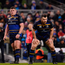16 December 2017; Sean Cronin, left, Tadhg Furlong, centre, and Cian Healy of Leinster during the European Rugby Champions Cup Pool 3 Round 4 match between Leinster and Exeter Chiefs at the Aviva Stadium in Dublin. Photo by Ramsey Cardy/Sportsfile
