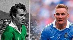 Legendary Kerry forward Mikey Sheehy and Dublin's Ciaran Kilkenny have both made the selections of Martin Breheny and Colm Keys. Photos: Sportsfile