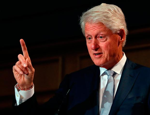 Former US President Bill Clinton, speaking at a Concern Worldwide conference in Dublin. Picture: Brian Lawless/PA Wire