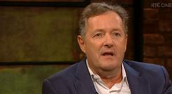 Piers Morgan on The Late Late Show