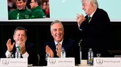 John Delaney with Donal Conway and FAI President Tony Fitzgerald
