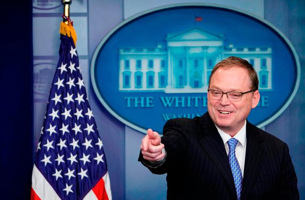 Kevin Hassett, who will address business executives in Dublin this week, said President Donald Trump was right to call out the Irish trade deficit. Photo: Getty Images