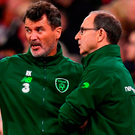 Republic of Ireland assistant manager Roy Keane and manager Martin O'Neill. Photo: Sportsfile