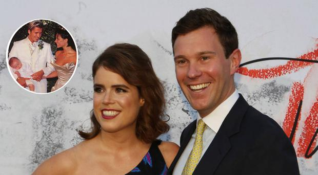 Princess Eugenie and Jack Brooksbank have reportedly hired the wedding planner responsible for David and Victoria's big day bash at Luttrellstown Castle (inset) in Dublin back in 1999