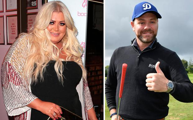 Gemma Collins, left, and Brian McFadden, right