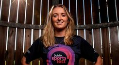 Gillian Pinder at the launch of the Dublin Sportsfest, which will take place from 23-30 September. Photo: Morgan Treacy/INPHO