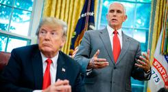 Denial: US Vice-President Mike Pence says nobody in his staff wrote the article criticising President Donald Trump. Photo: AFP/Getty Images